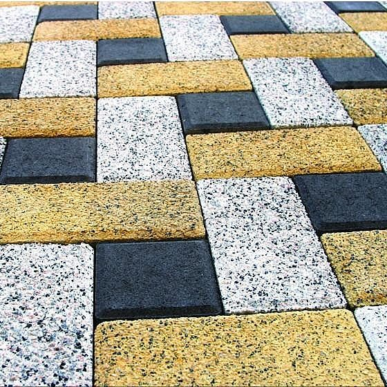 квадратная тротуарная плитка, разновидности